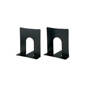 (まとめ買い)プラス ブックエンド 幅広 BS-102 ブラック 2枚 【×30セット】
