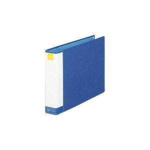 ライオンパイプ式ファイル両開き[環境]A4-E30mmとじブルー