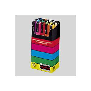 (業務用セット) 三菱鉛筆 ユニ ポスカ セット PC-3M15C 黒 赤 青 緑 黄 桃 水色 白 黄緑 紫 うす橙 山吹 橙 茶 灰 1セット 【×2セット】