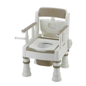 リッチェル 樹脂製ポータブルトイレ ポータブルトイレきらく ミニでか 45621