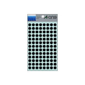 (業務用セット) エーワン カラーラベル 丸型9mm径 07009 黒 1P14シート(1456片)入 【×10セット】【ポイント10倍】