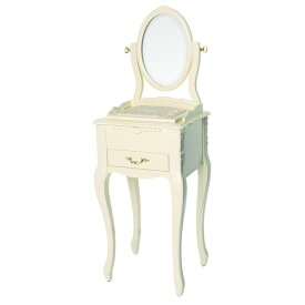 【ペット用家具】Fiore(フィオーレ) 鏡台(ドレッサー) クラシックホワイト【代引不可】【ポイント10倍】