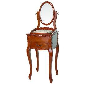 【ペット用家具】Fiore(フィオーレ) 鏡台(ドレッサー) アンティークブラウン【代引不可】【ポイント10倍】