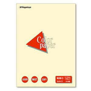 (業務用50セット) Nagatoya カラーペーパー/コピー用紙 【B4/特厚口 50枚】 両面印刷対応 レモン ×50セット