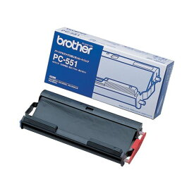 (まとめ) ブラザー BROTHER リボンカートリッジ 42m PC-551 1個 【×8セット】