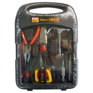 (業務用20セット)TRAD 工具セット/作業工具 【12個入】 TS-12 〔業務用/家庭用/DIY/日曜大工〕【×20セット】【送料無料】