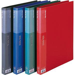 (まとめ) ビュートン リングバインダー A4タテ 30穴 30枚収容 背幅25mm ブルー RB-A4-B 1冊 【×10セット】