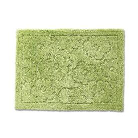 バスマット/フロアマット 【約50×70cm グリーン】 吸水 抗菌 防臭 裏面滑り止め加工 『乾度良好 サニー』