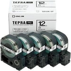 (業務用5セット) キングジム テプラ PROテープ/ラベルライター用テープ 【幅:12mm】 5個入り SS12K-5P ホワイト(白) 【×5セット】