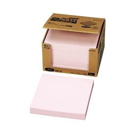 (まとめ) ニチバン ポイントメモ 再生紙 ビジネスパック 75×75mm ピンク MB-2P 1パック(5冊) 【×5セット】