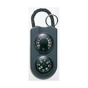(まとめ)EMPEX 温度計・コンパス サーモ&コンパス FG-5122 ブラック【×5セット】