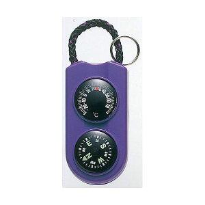 (まとめ)EMPEX 温度計・コンパス サーモ&コンパス FG-5126 パープル【×5セット】