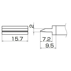 白光 T12-1402 こて先/スパチュラ15.7(IN-209)