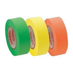 (業務用セット) ヤマト メモックロールテープ 詰替用テープ(蛍光紙) RK-15H-A ライム・レモン・オレンジ 各1巻入 【×10セット】