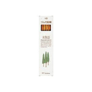 (業務用50セット) トンボ鉛筆 エコ鉛筆 木物語 LGKEAHB ゴム付 ×50セット