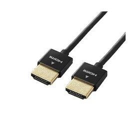 (まとめ)エレコム イーサネット対応スーパースリムHDMIケーブル(A-A) DH-HD14SS07BK【×3セット】