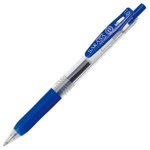 (まとめ) ゼブラ ゲルインクボールペン サラサクリップ 1.0mm 青 JJE15-BL 1本 【×60セット】