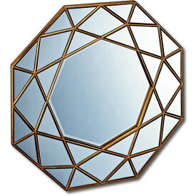 ダイヤモンドアートミラー DM-25001 アンティークゴールド【ポイント10倍】