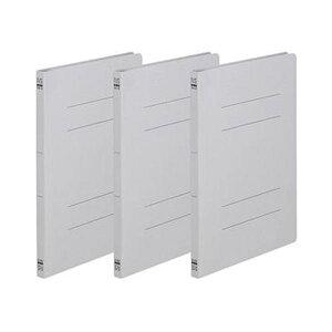 (まとめ)TANOSEE フラットファイル(ノンステープルタイプ)A4タテ 150枚収容 背幅18mm グレー 1パック(3冊)【×100セット】