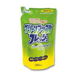 (まとめ)ロケット石鹸 フルーツ酸配合 フレッシュグリーンアップル 詰替用 500ml 1セット(20個)【×5セット】