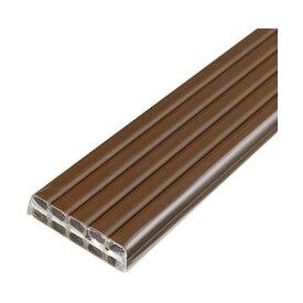 (まとめ)ELPA テープ付ABSモール 1号1m ブラウン M-T1110P(BR)1パック(10本)【×5セット】