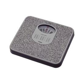 (まとめ) 体重計/ヘルスメーター 【アナログ】 コンパクト 電池交換不要 点調節つまみ付き ストーンホワイト 【×6個セット】【ポイント10倍】