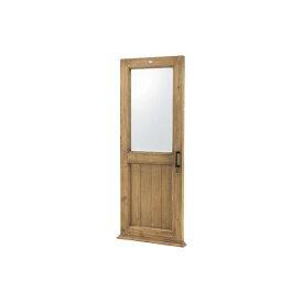ドア型 スタンドミラー/全身姿見鏡 【幅65cm】 木製 4mm飛散防止ミラー 〔ベッドルーム 寝室 玄関 リビング 店舗〕【代引不可】