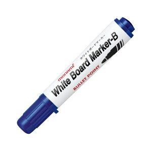 (まとめ) モナミ ホワイトボードマーカーB 丸芯 青 10502 1本 【×100セット】