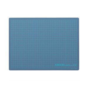 (まとめ) ライオン事務器 カッティングマットKIRIKIRI 再生PVC製 320×240×1.2mm ブルー CM-30K 1枚 【×10セット】