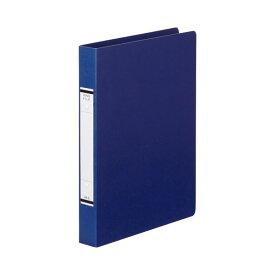 (まとめ) TANOSEE Oリングファイル(紙表紙) A4タテ 2穴 220枚収容 背幅36mm 青 1セット(10冊) 【×10セット】