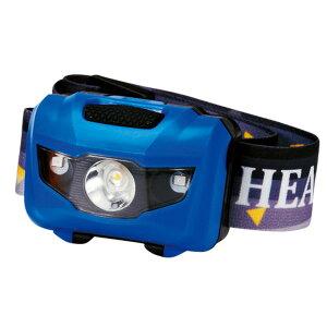 マルチ ヘッドライト/照明器具 【ブルー 100個セット】 ライト:4パターン切替可 〔防災 アウトドア 暗所作業〕