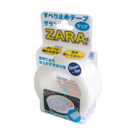 (まとめ)カーボーイ すべり止めテープ ザラザラ幅50mm×5m クリア ST-42 1巻【×5セット】