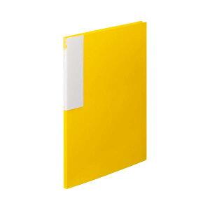 (まとめ) TANOSEE クリヤーブック(クリアブック) A4タテ 12ポケット 背幅10mm イエロー 1冊 【×30セット】