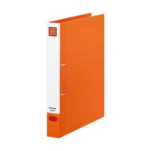 (まとめ) キングジム レバーリングファイルDタイプ A4タテ 2穴 250枚収容 背幅37mm オレンジ 6872オレ 1冊 【×30セット】