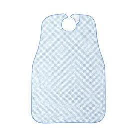(まとめ)カワモト ポラミー 食事用エプロンブルー 1枚【×5セット】