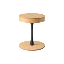 サイドテーブル/ミニテーブル 【幅40×奥行40×高さ49cm】 円形 ナチュラル 木製 〔リビング ダイニング 店舗 ショップ〕
