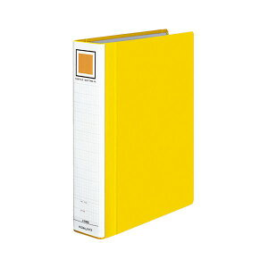 (まとめ) コクヨ チューブファイル(エコツインR) A4タテ 500枚収容 背幅65mm 黄 フ-RT650Y 1冊 【×10セット】