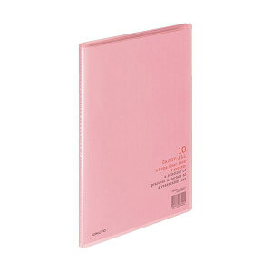 (まとめ)コクヨ クリヤーブック(キャリーオール)固定式 A4タテ 10ポケット 背幅8mm ピンク ラ-2P 1セット(10冊)【×5セット】