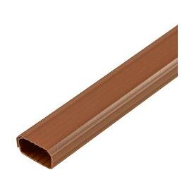 (まとめ)ELPA 切れるモール 2号 1m テープ付 ブラウン MH-CT21H(BR)1本【×20セット】