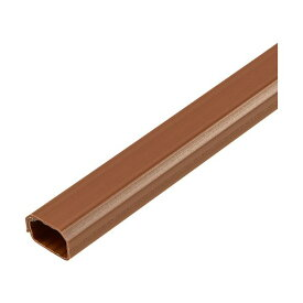 (まとめ)ELPA 切れるモール 1号 1m テープ付 ブラウン MH-CT11H(BR)1本【×20セット】