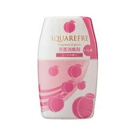 (まとめ)ライオンケミカル アクアリフレ芳香消臭剤 トイレ用 ピーチの香り 400ml 1個【×50セット】
