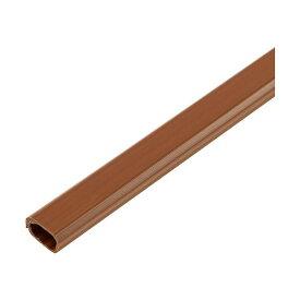 (まとめ)ELPA 切れるモール ミニ 1m テープ付 ブラウン MH-CT01H(BR)1本【×20セット】