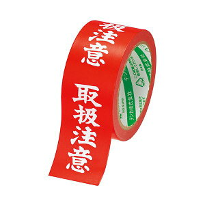 (まとめ) 電気化学工業 カラリヤンラベル 荷札テープ 取扱注意 50mm×25m #595 1巻 【×30セット】