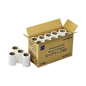 (まとめ) ニトムズ プロフェッショナルウェアクリーナー スペアテープ 幅80mm×90周巻 C2970 1箱(20巻) 【×5セット】