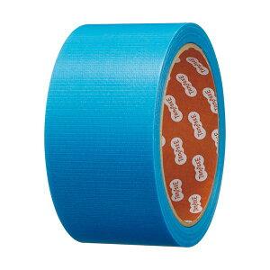 (まとめ)TANOSEE カラー養生テープ 50mm×25m 青 1巻 【×30セット】