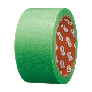 (まとめ)TANOSEE カラー養生テープ 50mm×25m 緑 1巻 【×30セット】