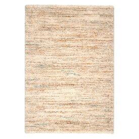 ベルギー ラグマット/絨毯 【140cm×200cm アイボリー】 長方形 高耐久 ウィルトン 『SHERPA COSY』 〔リビング〕【代引不可】【ポイント10倍】