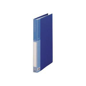 (まとめ) TANOSEE クリヤーブック(クリアブック) A4タテ 40ポケット 背幅26mm ブルー 1冊 【×30セット】