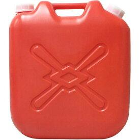 (まとめ) 灯油缶/灯油用ポリタンク 【赤 18L】 ベーシックサイズ キャップ口径:50mm JISマーク付き 【6個セット 】