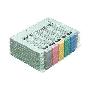 (まとめ)コクヨ カラー仕切カード(ファイル用・5山見出し) A4タテ 2穴 5色+扉紙 シキ-140 1パック(100組)【×3セット】
